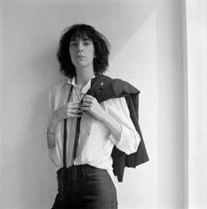 A 1975 portrait of Patti Smith by Robert Mapplethorpe.